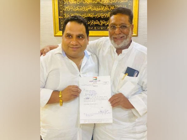 Mohammad Khan Pathan, President - State Minority Cell offering appointment letter to Saleem Sarang