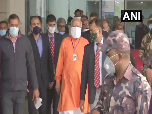 RSS Chief Mohan Bhagwat arrives in Patna on Friday. Photo/ANI