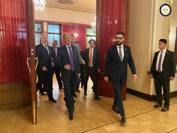 Afghanistan NSA Hamdullah Mohib with Russia's Security Council Secretary Nikolai Patrushev in Moscow (Photo Credit - Office of National Security Council, Afghanistan