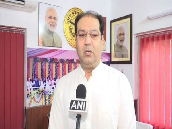 UP minister Mohsin Raza on Saturday in Lucknow. Photo/ANI