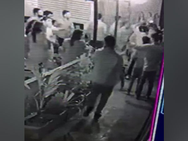 Visual of the incident from CCTV footage