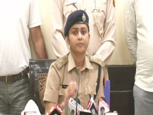 DCP North Delhi, Monika Bhardwaj speaking at a press conference in New Delhi on Sunday. Photo/ANI