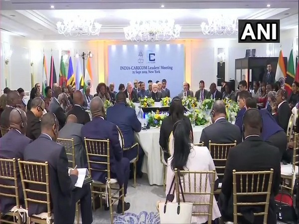 Prime Minister Narendra Modi addressing the India-CARICOM leaders' meeting in New York on Wednesday