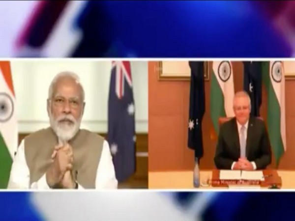 The first virtual meeting between Prime Minister Narendra Modi and his Australian counterpart Scott Morrison early last month.