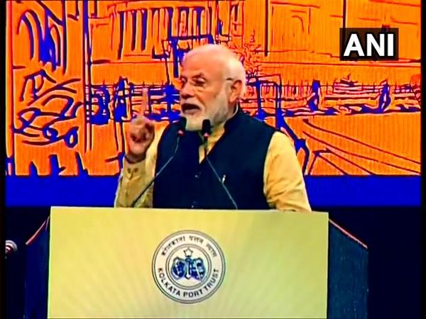 PM Modi speaking at the 150th-anniversary celebrations of Kolkata Port Trust.