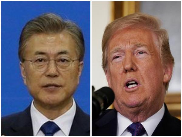 South Korean President Moon Jae-In, US President Donald Trump
