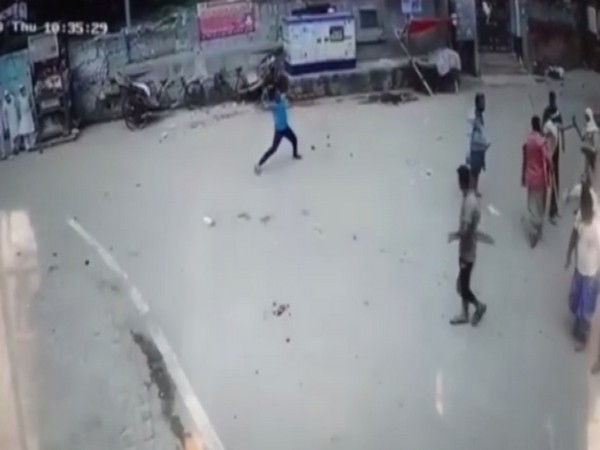 A visual from the CCTV footage of the incident. Photo/ANI