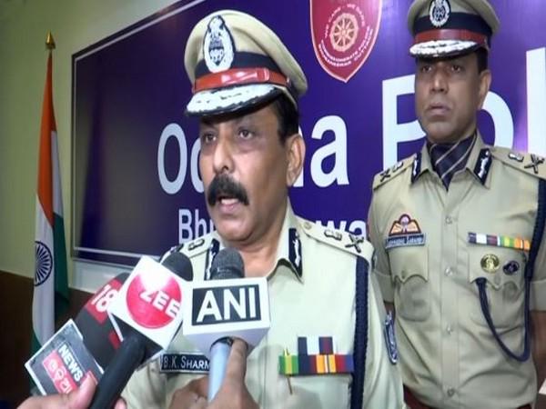 Odisha Director General of Police BK Sharma in Bhubaneswar on Friday. Photo/ANI