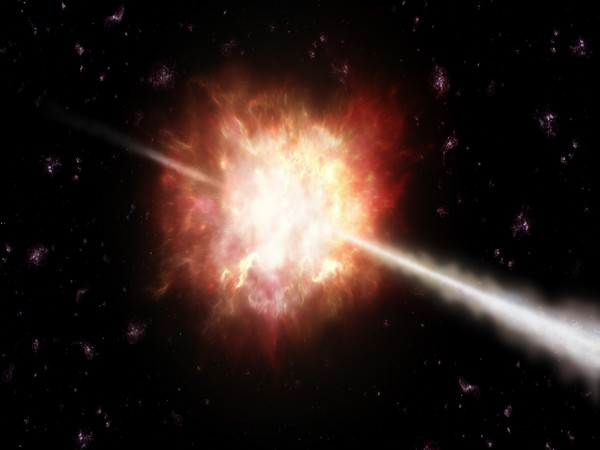 The most powerful explosions in the Universe are gamma-ray bursts, caused by massive falling stars.