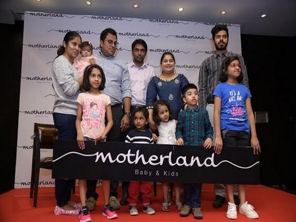 Motherland Logo launched by Mrs. Monika Battala, MD and Mr. Suman Gadde, Director, Mr. Chaitanya Boyapati, Director along with kids