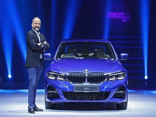 Rudratej Singh, President and CEO, BMW Group India with the BMW 3 Series