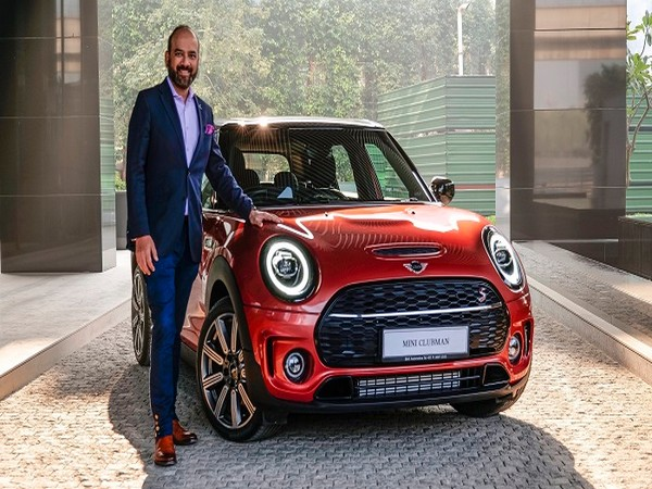 Rudratej Singh with the new MINI Clubman Indian Summer Red Edition