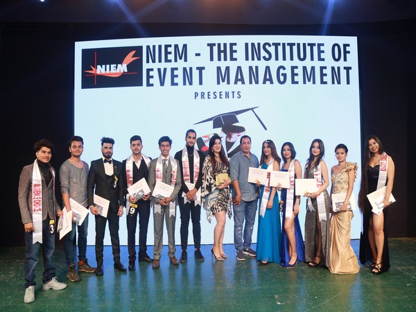 Mr and Ms University Winners with Judges