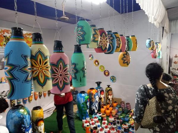 A stall at the terracotta exhibition Mruttika-2019 organised in Bhubaneswar. Photo/ANI