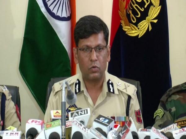 IGP (Jammu Zone) Mukesh Singh addressing a press conference in Jammu on Monday. Photo/ANI