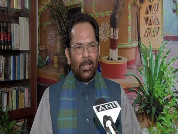 Union Minister Mukhtar Abbas Naqvi. [Photo/ANI]