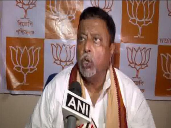 BJP leader Mukul Roy speaking to ANI on Sunday.