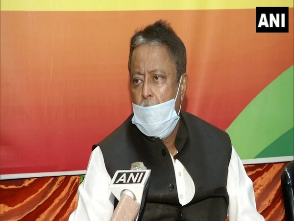 BJP leader Mukul Roy speaking to ANI in Kolkata on Saturday. Photo/ANI