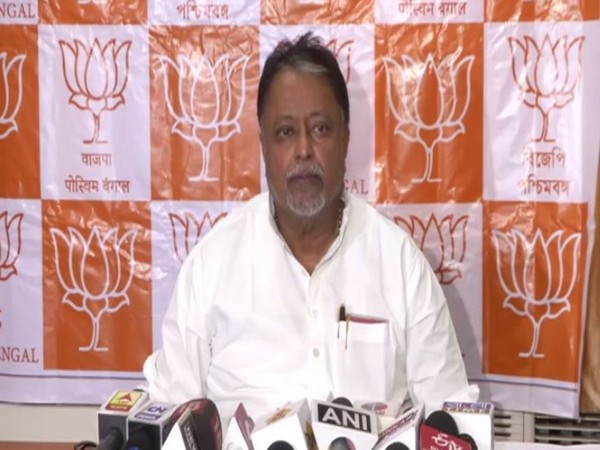 BJP leader Mukul Roy while addressing a press conference in Kolkata, West Bengal on Saturday. Photo/ANI