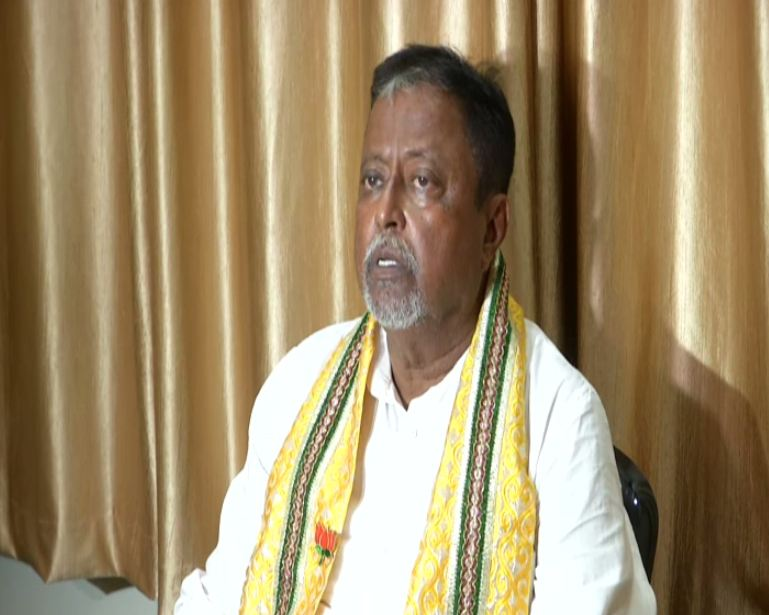 BJP leader Mukul Roy addressing a press conference in Kolkata, West Bengal on Wednesday.