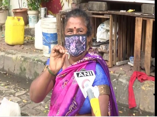 Kanta Murti, the woman who stood in heavy rain for seven hours to avert the accident due to open manhole on August 4. Photo/ANI