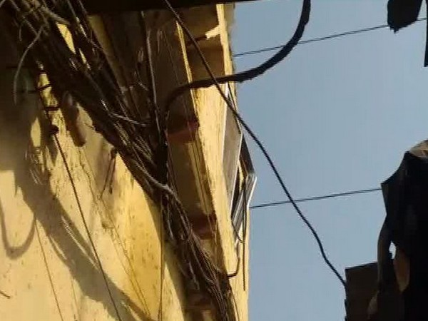 The incident took place at around 4.30 pm after high tension wire fell on the house.