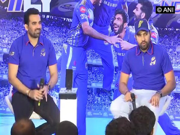 Zaheer Khan and Rohit Sharma addressing media (ANI Picture)