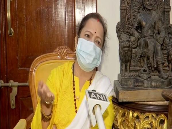 Mumbai Mayor Kishori Pednekar while speaking to ANI on Friday. (Photo/ANI).