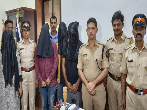 The four persons, including a woman, arrested by Mumbai Police. (Photo/ANI)