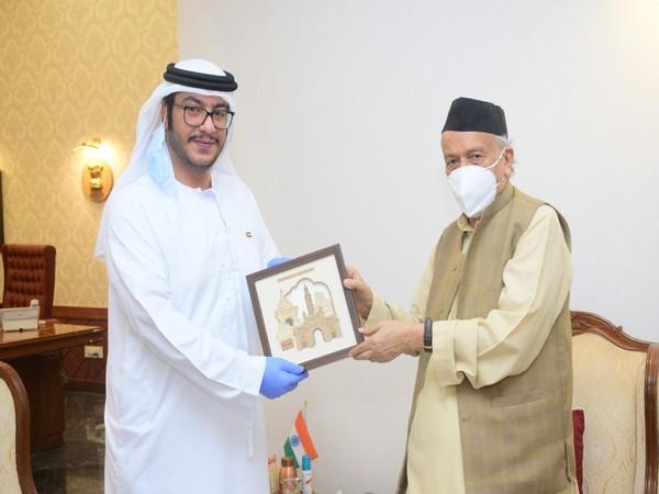 Saud Abdelaziz Alzarooni, Charge D'Affaires of the Consulate General of the UAE in Mumbai called on Governor Bhagat Singh Koshyari here at the Raj Bhavan.