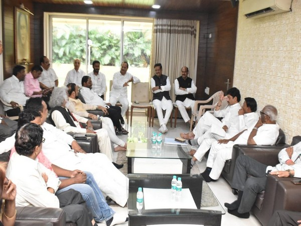 Meeting underway between Congress-Nationalist Congress Party (NCP) leaders and other alliance partners, in Mumbai.