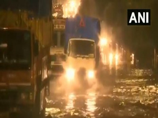 Mumbai: Roads in Matunga area water-logged, after heavy rainfall in the city