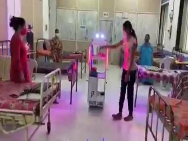 A Mumbai-based private hospital get its first robot 'Gollar' to assist the healthcare staff in the hospital in the wake of COVID-19. (Photo/ANI)