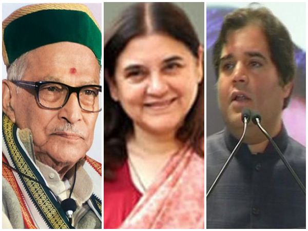From left: Murli Manohar Joshi, Maneka Gandhi, Varun Gandhi