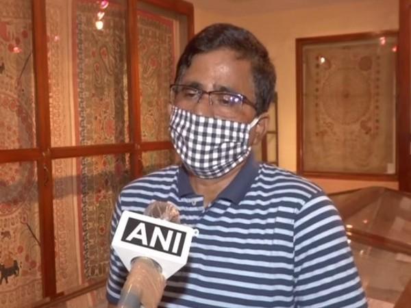 Bijan K Mondal, Curator of the Gurusaday Museum speaking to ANI in Kolkata. [Photo/ANI]