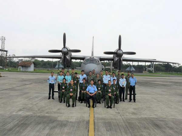 Myanmar Air Force (MAF) personnel made a two-day visit to Air Force Station Jorhat from 27 May to 28 May. Photo/ANI