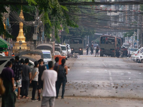 Myanmar security forces in SanChaung district. (Photo credit: Reuters)