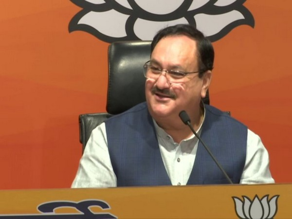 BJP Chief JP Nadda addressing a press conference in New Delhi on Saturday. (Photo/ANI)