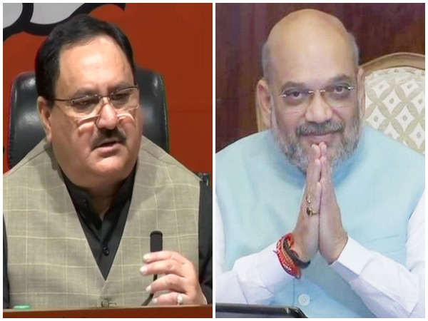 BJP working President JP Nadda (left) and Union Home Minister Amit Shah (right). File photo/ANI