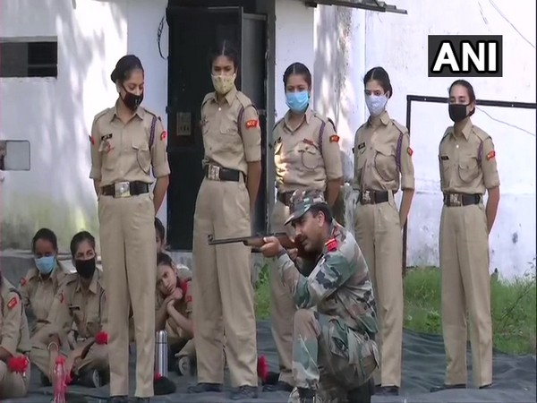 NCC cadets at the training camp in Nagrota. (Photo/ANI)