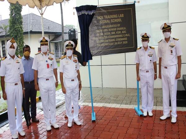 Vice Admiral Anil Kumar Chawla inaugurated Naval Communication Network (NCN) Training Lab