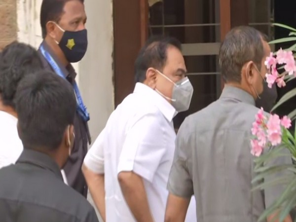 NCP leader Eknath Khadse arriving at the ED office in Mumbai on Friday.