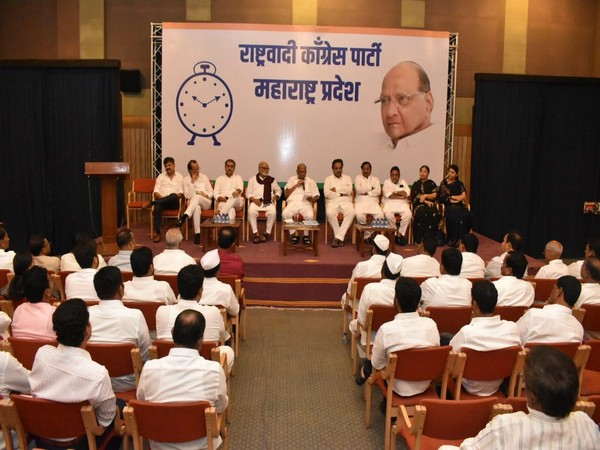 Visual from NCP core committee meeting in Mumbai
