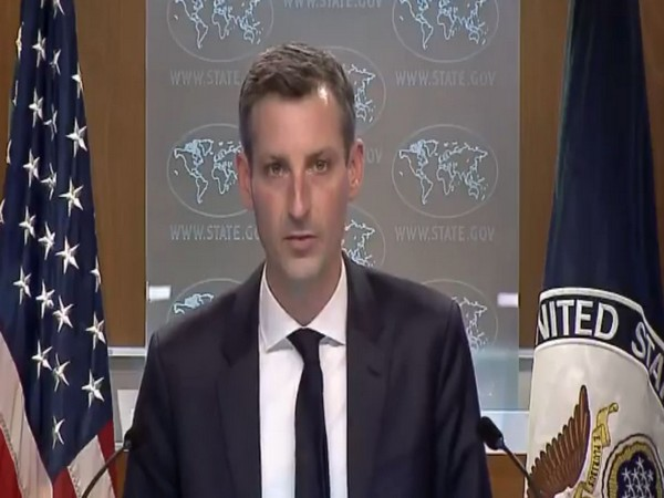 US State Department spokesperson Ned Price speaking during a press briefing on Monday (local time)