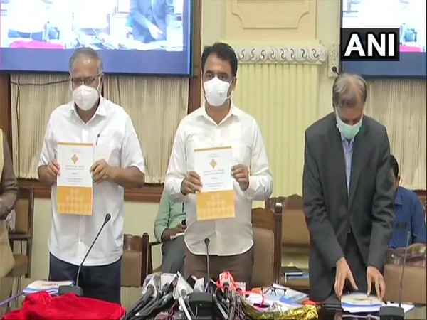 Visuals from the press conference in Bengaluru on Saturday. Photo/ANI