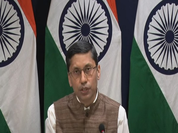MEA spokesperson Arindam Bagchi speaking at a media briefing on Friday.