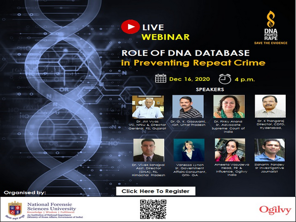 Live Webinar on 'Role of DNA Database in Preventing Repeat Crime'