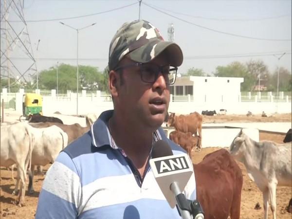 Veterinarian Atul Maurya speaking to ANI in Faridabad. (Photo/ANI)
