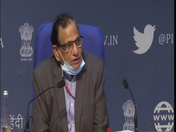 Dr VK Paul, Member (Health), NITI Aayog speaking during press conference in New Delhi on Tuesday. [Photo/ANI]