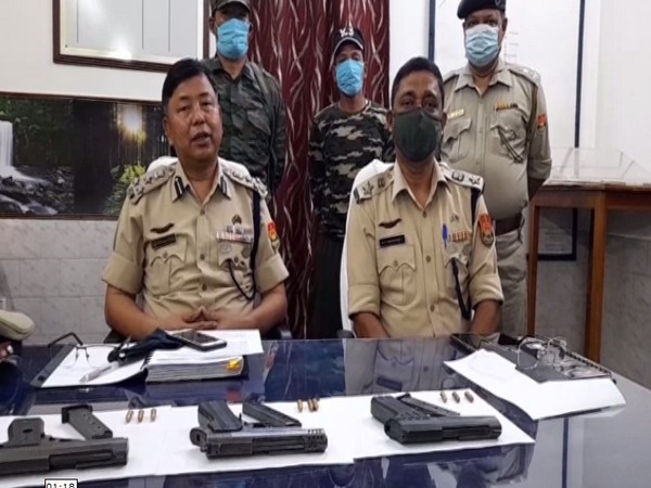 Two cadres of NLFT surrenders. (Photo/ ANI)